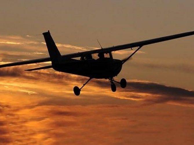 ночные полеты на самолете cessna 172 из гостилиц