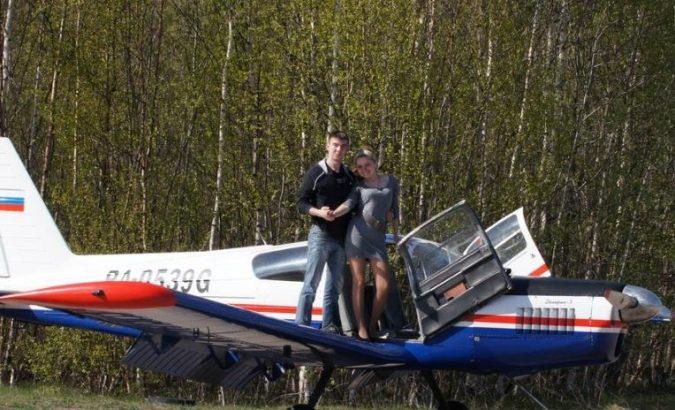 полет на самолете с управлением