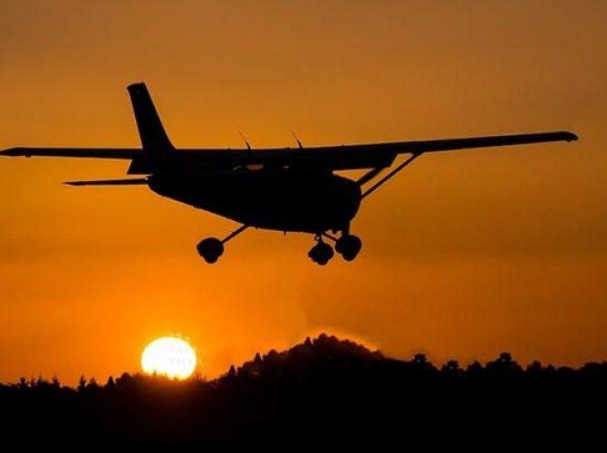 ночные полеты на самолете piper pa-28 из кронштадта