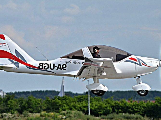 полет на самолете sting tl-2000