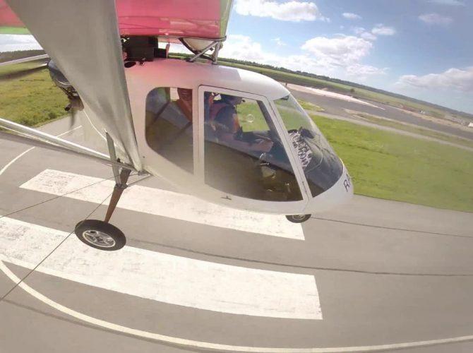 полет на самолете птенец