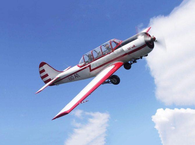 полеты на самолете як-52 с аэродрома гостилицы